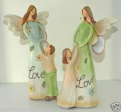 Angel Figure Mum & Child Angel Statue Angel Mother & Son Mother & Daughter