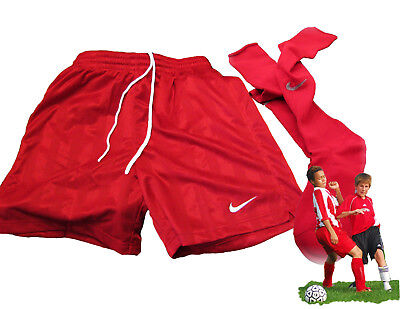 New NIKE TEAM  Football Shorts & Socks Red Youth Boys Girls XL Age 13-15 Yrs
