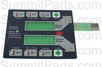 Blue Membrane Switch Touch Pad For New Dexter Stack Dryer - 9801-059-006