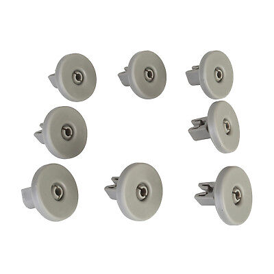 8 x Lower Basket Wheels For AEG, Electrolux, Tricity Bendix, Zanussi Dishwashers