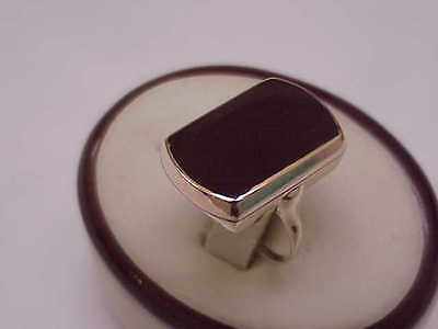 Rare Antique Victorian 14k Solid Yellow Gold Large Carnelian Stone Ring, 1800s