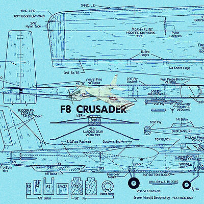 Model Airplane Plans CONTROL LINE   STUNT PLANE NOTE & FULL SIZE PLANS