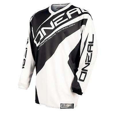O'Neal Element Jersey Trikot Schwarz Weiß Moto Cross Mountain Bike Enduro MTB MX
