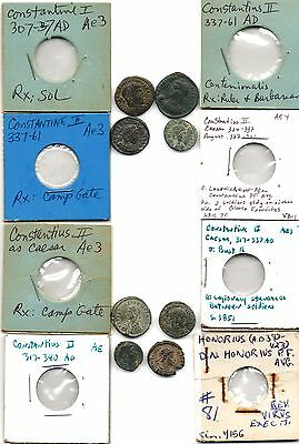 Lot of 8 Extra Fine & Very Fine Ancient Roman Coins, All Identified!