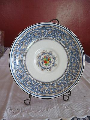 VINTAGE MYOTT STAFFORDSHIRE CHINA MEDICI SAUCER England Hand Painted Blue Fruit