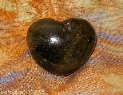 Labradorite NEW Gemstone Heart 45mm 2.3oz Carved Healing Increase intuition T