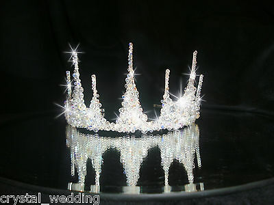 Swarovski  Elements Crystal 'Ice' tiara bridal head wear