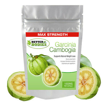 100 Garcinia Cambogia 1000mg Per Cap Strong Weight Loss Diet Pills Better Bodies