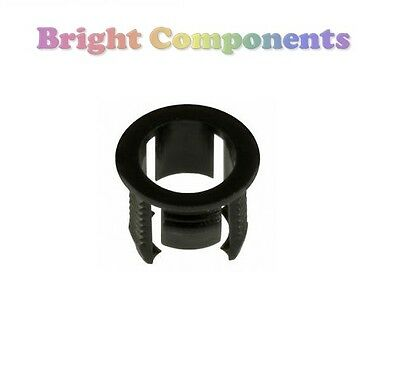 20x 5mm LED Bezel Clip Holder Mount (Push Fit) - 1st CLASS POST