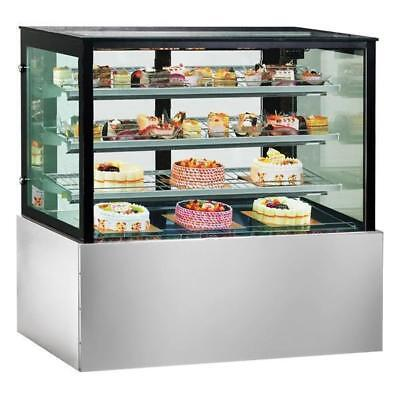Cake & Food Display Unit, Square Chilled Refrigerated Cabinet 2400x740x1350mm