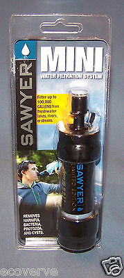 [SP100]( 1X)BLACK Sawyer Mini Water Filter w/16 oz pouch FREE Shipping SP128