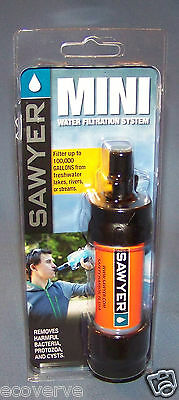 [SP103]( 1X)ORANGE Sawyer Mini Water Filter w/16 oz pouch FREE Shipping  SP128