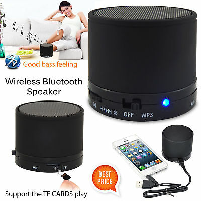 New Mini Wireless Bluetooth Portable Speaker Mic For Iphone Ipad Mp3 Black Uk