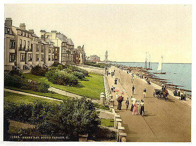 Vintage Edwardian Seaside Photochrome Photo Reprint Herne Bay 3 A4
