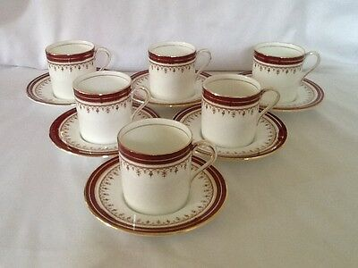 6 Aynsley Durham Cups And Saucers Lovely Condition 1st Quality