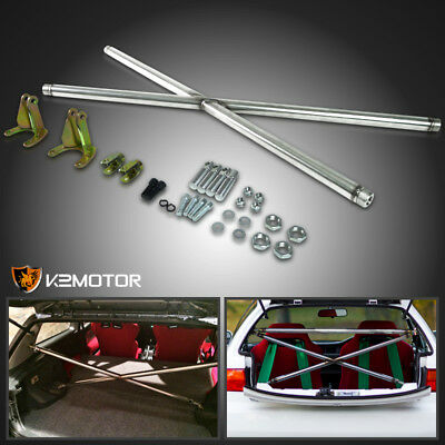 For 92-95 Honda Civic 3 Door Hatchback EG JDM Rear X-Cross Strut Bar CX DX Hatch