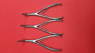 """NEW Lot of 3Pcs-Vienna Nasal Speculum 5 3/4"""" (S/M/L) Surgical, Instruments Set"""