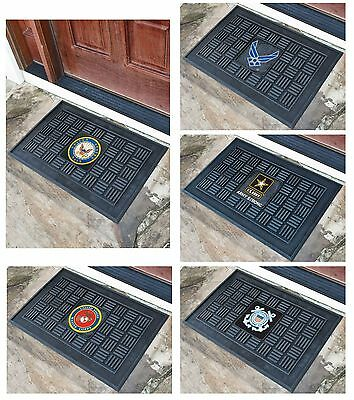 US Military Armed Forces Logo Themed Heavy Duty Vinyl Entry Way Door Welcome Mat