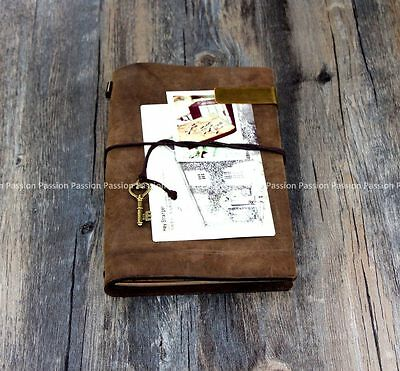 genuine leather Diaries Journals notebook note book Vintage  D20141017