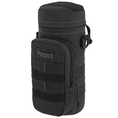 "Maxpedition Tactical 10""x4"" Hydration Bottle Holder Padded Webbing Pouch Black"