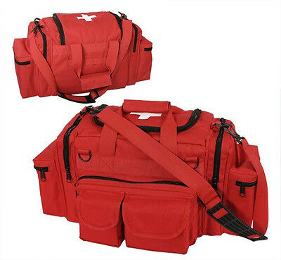 Red EMT Medical Bag Tactical Emergency Medical Concealed Trauma Bag Shoulder Bag