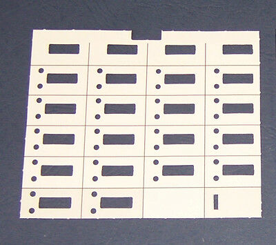 Lot of 10 Avaya Lucent Partner Phone 18D Paper Desi Replacement Label