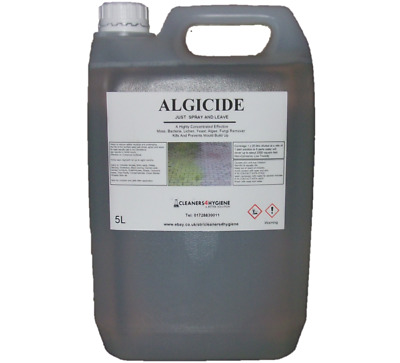 5L Algae Moss Lichen Fungi Killer Growth Control from patio's Roofs Decking Path