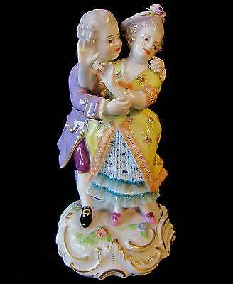 Antique Meissen Figure Courting Pair Figural Group O-141 August Ringler c 1889