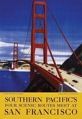 SAN FRANCISCO - SOUTHERN PACIFIC POSTER 24x36 - VINTAGE TRAVEL 36144
