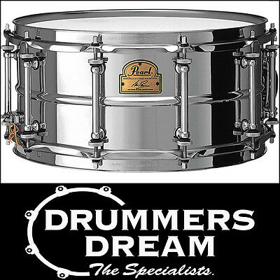 """Pearl IAN PAICE 14"""" x 6.5"""" Signature Beaded Steel Shell Snare Drum IP1465"""