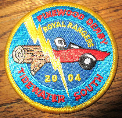 Pinewood Derby Tidewater South 2004 Royal Rangers Rr Uniform Patch