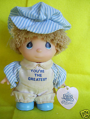 """Rare Vintage Enesco Precious Moments Hi Babies You're The Greatest 5"""" Tall Doll"""