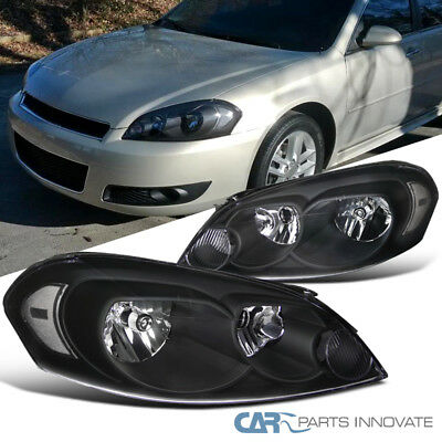 Chevy 06 13 Impala 07 Monte Carlo Replacement Black Headlights Head Lamps