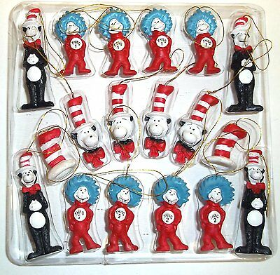 Dr. Seuss The Cat in the Hat Figurine Ornaments, Set of 18 by Giftco OOO CAO