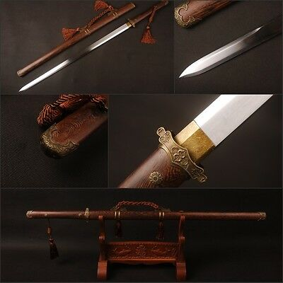 Tang dynasty Chinese sword with tassel Rose wood high carbon steel nice blade