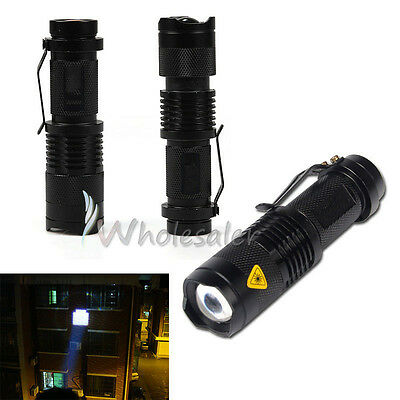NEW 2000LM Zoomable CREE XML T6 LED 18650 Flashlight Focus Torch Zoom Lamp Light