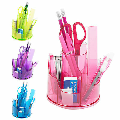 13pc Office Stationery Organiser Set Rotating Desk Tidy Pen Holder Accessory Pot
