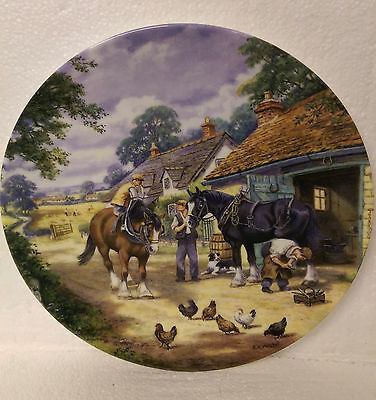 At The Smithy by Stan Mitchell The Village Shires Series Royal Doulton Plate