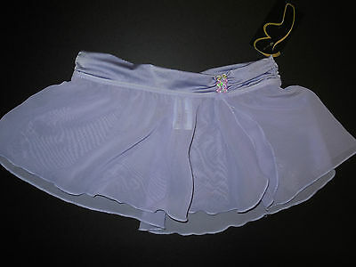 NWT Bloch Ballet Dance Ruched Waistband Skirt Lilac Girls 8/10  Style #CR5150