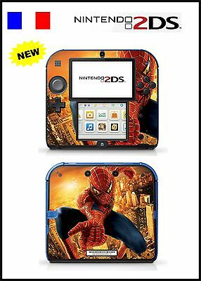 Skin Sticker Autocollant Deco Pour Nintendo 2Ds Ref 63 Spiderman