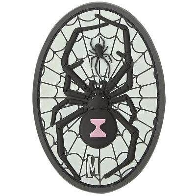 Maxpedition Black Widow 3D Rubber Badge Morale Patch Glows In The Dark
