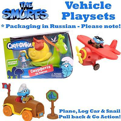 Smurfs Vehicles Collectible Twin Pack in Russian Packaging. With Figure NEW UK
