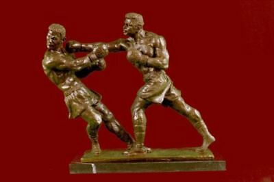 Mohamed Ali Boxing Champ Boxer Bronze Sculpture Marble Base Statue Figurine Art