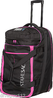 Stahlsac Jamaican Smuggler Scuba Diving Roller Travel Gear Bag Pink New