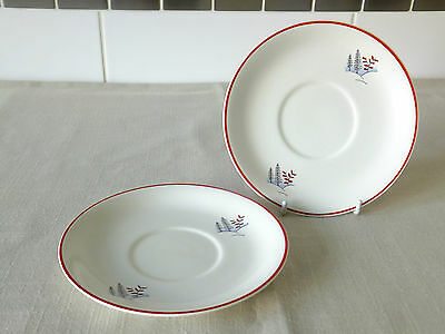 "2 x CROWN DEVON STOCKHOLM 6"" SAUCERS"