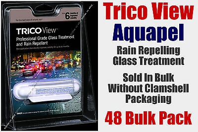 Aquapel Trico View Glass Treatment Repels Rain 4-6 Months 48 Treatment Bulk Pack