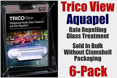 Aquapel Trico View Glass Treatment Rain Repelling 4-6 Month Professional 6-Pack