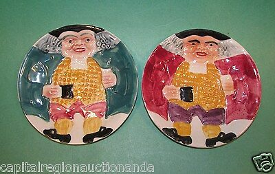 Vintage Staffordshire Plates (2) Shorter & Sons England Excellent Condition