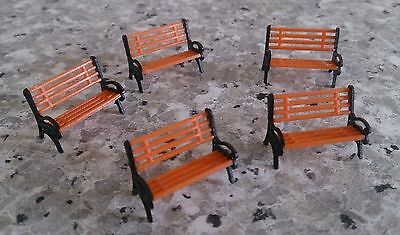 Platform Park Benches - 1:75 Scale (OO Gauge Model Railway) - suit Hornby