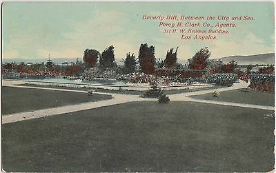 California Ca Postcard c1910 LOS ANGELES Beverly Hill Percy Clark Real Estate